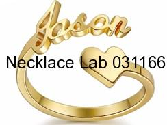 Premium Quality Name Ring Gold