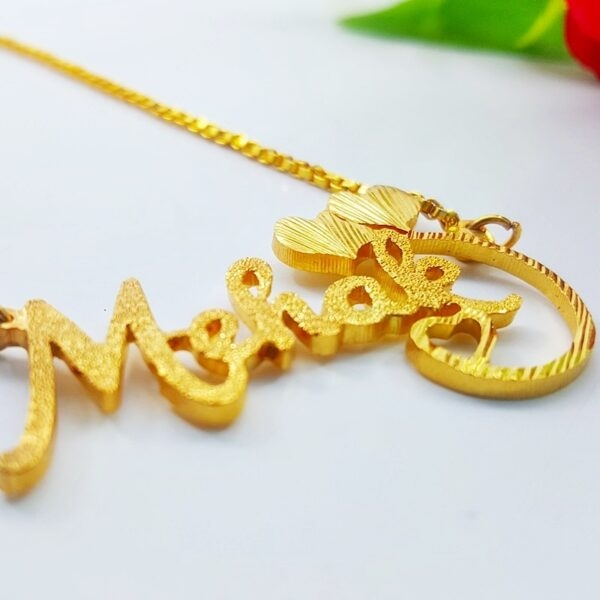 Mehak name necklace. name necklace design in pakistan