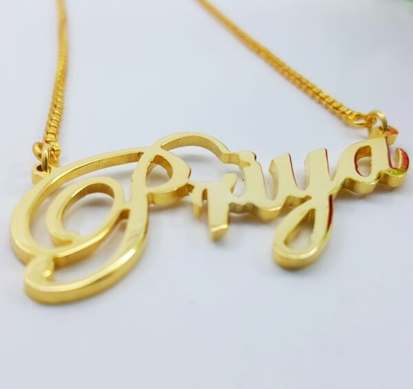 Priya name necklace. name necklace design in pakistan