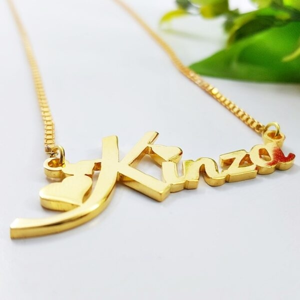 Kinza Name Necklace . name locket design in pakistan