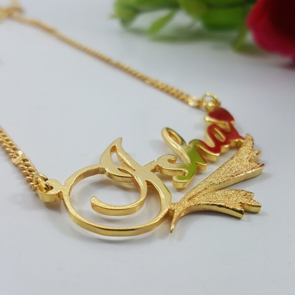 Isha Name Necklace . name locket design in pakistan