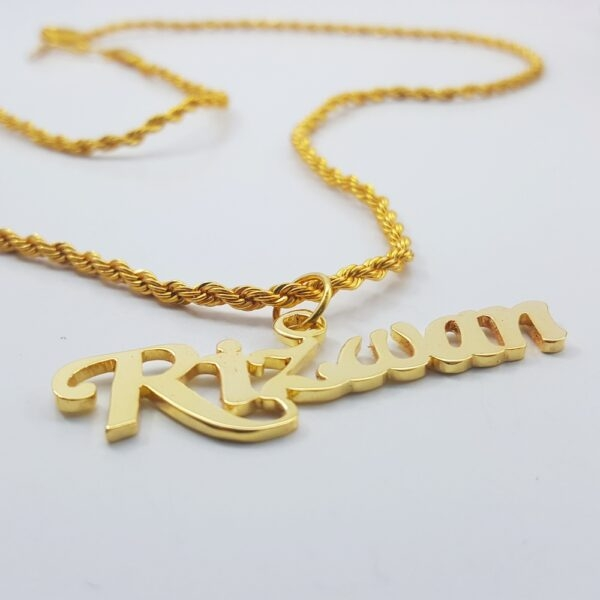 Rizwan Name Necklace . name locket design in pakistan