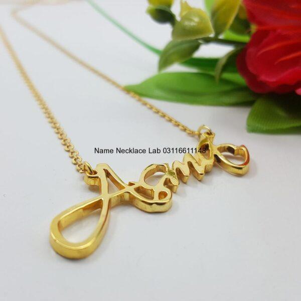 Asma Name locket Necklace goldnamependant designs for female