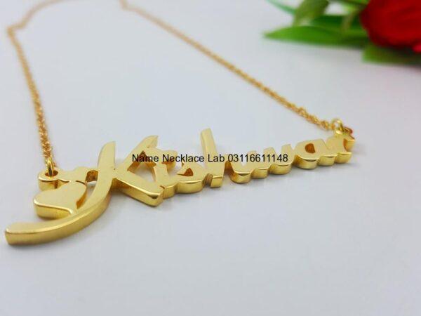 Kishwar Name Necklace goldnamependant designs for female