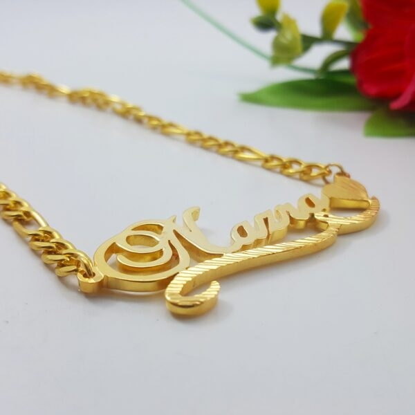 Nazra Name Necklace gold name pendant designs for female