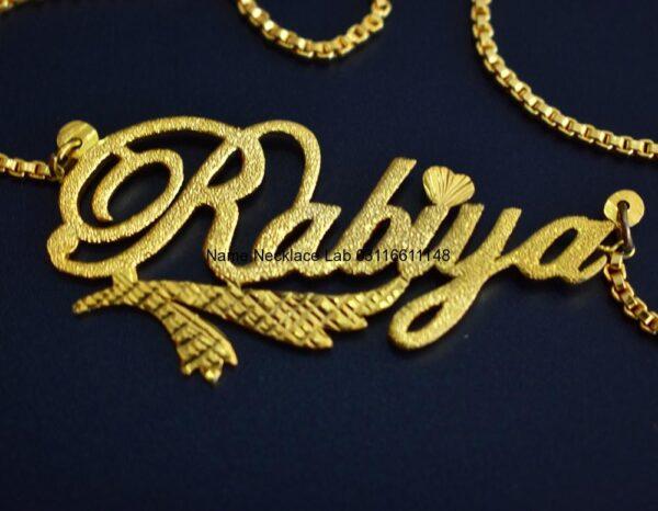 Rabia Rabiya name necklace. name necklace design in pakistan