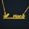 Mano name necklace. name necklace design in pakistan