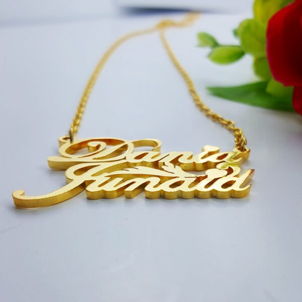double layer name necklace Dania Junaid double plated name necklace doublename locket design double name pendant design name necklace designs gold namependant designs for female name locketdesigns in gold online couplename locket design doublenamelocket design name locketnew design name locketdesigns online name chain golddesign gold chain namedesign price name chain design name locket design gold chain name design