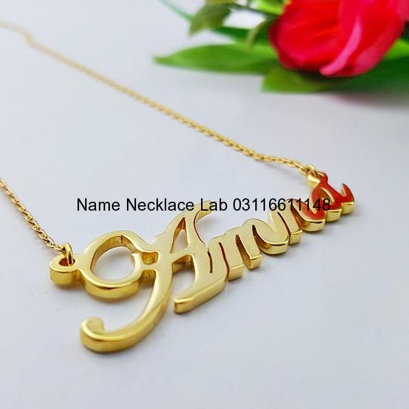 Amna Name Necklace Name Necklace Designs