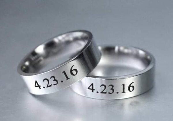 Date Engraved Name rings for Couple Couple Engraved Name with Date ring Silver Plated Couple Name Engraved ring in Pakistan name rings gold, name ring for girl, customized ring with name, personalized name ring, name rings silver, ring with name inside, name ring design online, name rings cheap, write name on gold ring, 2 finger gold ring with name on it, ring design with name for female, gold ring design for male with name, name rings gold plated, customized ring with name, double name ring gold, write name on diamond ring, ring design with name for male, write names on wedding rings, write name on jewellery, write name on gold chain, gold ring name images,